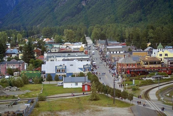 Looking Down Skagway's Main Street [Alaska Slot Machine Casino Gambling in 2019]