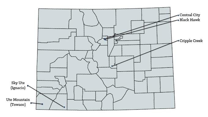 Map of Colorado Casinos [Colorado Slot Machine Casino Gambling in 2019]