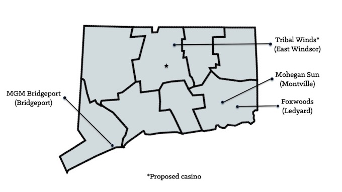 Map of Connecticut Casinos [Connecticut Slot Machine Casino Gambling in 2019]