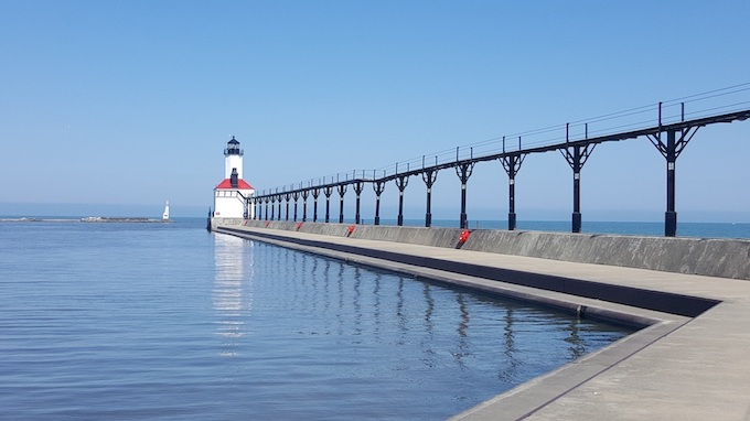 Michigan City East Pierhead Lighthouse [Indiana Slot Machine Casino Gambling in