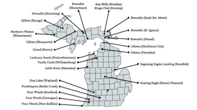 Map of Michigan Casinos [Michigan Slot Machine Casino Gambling in 2020]
