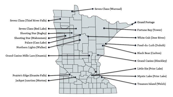 Map of Minnesota Casinos [Minnesota Slot Machine Casino Gambling in 2020]