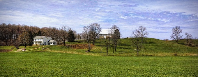 Farm House with Barn Overlooking Field [Ohio Slot Machine Casino Gambling in 2020]