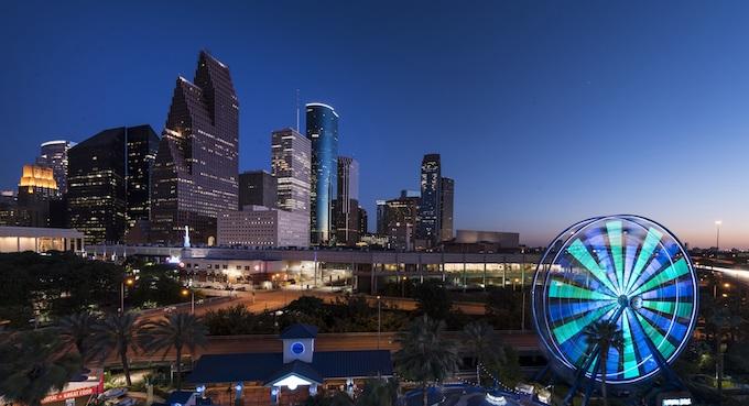 The City of Houston at Night [Texas Slot Machine Casino Gambling in 2020]