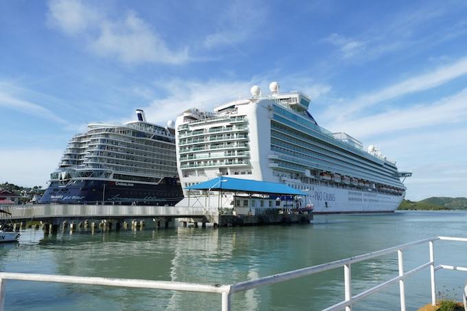 Two Cruise Ships at Port [U.S. Virgin Islands Slot Machine Casino Gambling in 2020]