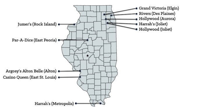 Map of Illinois Casinos [Illinois Slot Machine Casino Gambling in 2019]