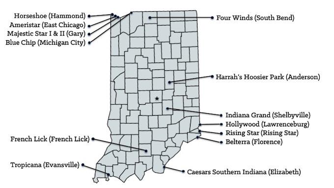 Map of Indiana Casinos [Indiana Slot Machine Casino Gambling in 2019]