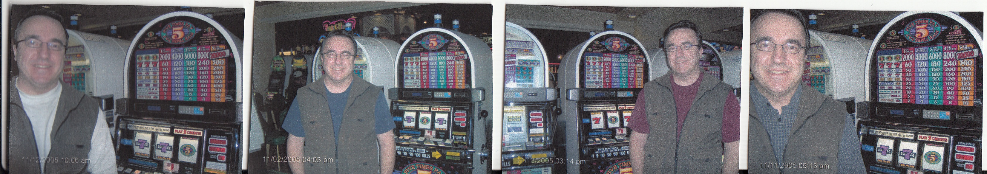 Four of my slots jackpots over 10 days in early November 2005