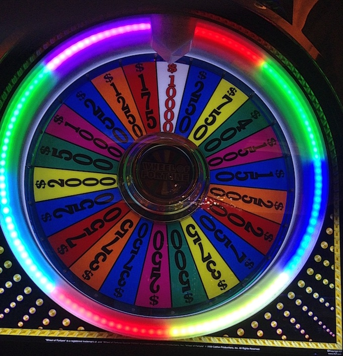 Second taxable jackpot of the night in 34 minutes - $10,000 on the bonus wheel (Professor Slots 2017).