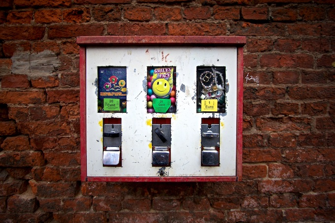 Traditional Coin-Operated Gum Machines [Slot Machines Invented]