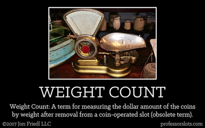 Weight Count (Casino Gambling Definitions).