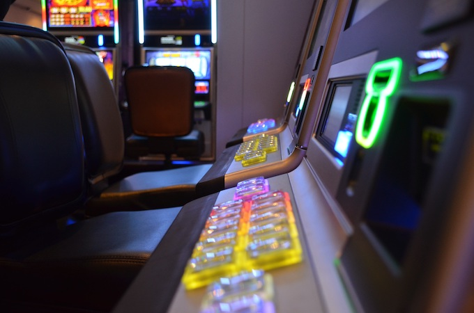 The slot machine player interface console [How Slot Machines Work]