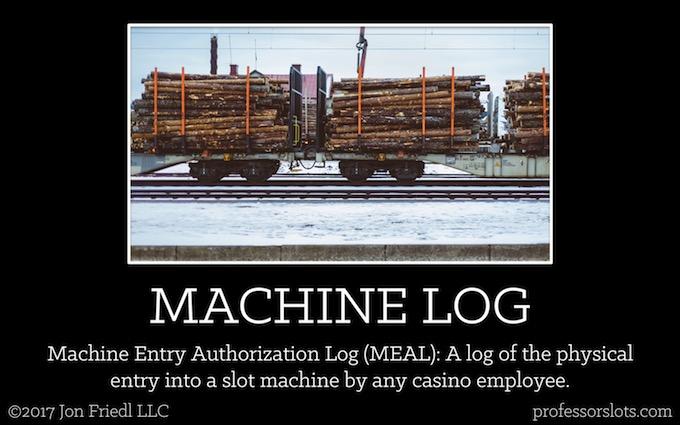 Machine Authorization Entry Log (Casino Gambling Definitions).