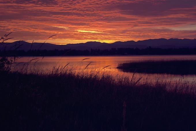 Sunset in Idaho.
