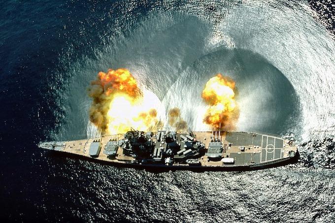 The battleship U.S.S. Iowa (BB-61).