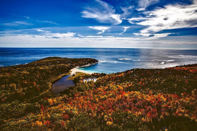 Bar Harbor with Autumn Colors [Maine Slot Machine Casino Gambling 2018]