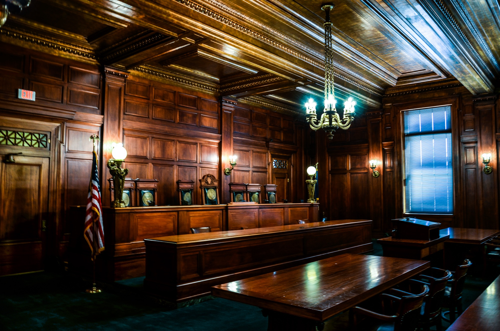 State Capital Courtroom in Frankfort, Kentucky and Kentucky Slot Machine Casino Gambling.