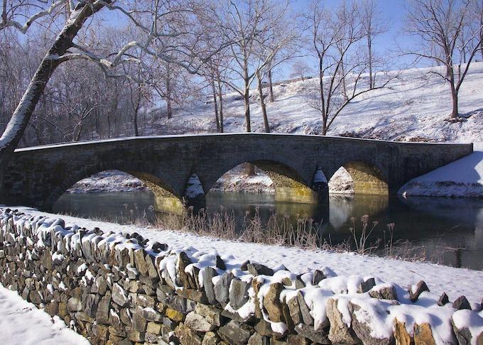 Stone Bridge in Winter [Maryland Slot Machine Casino Gambling 2018]
