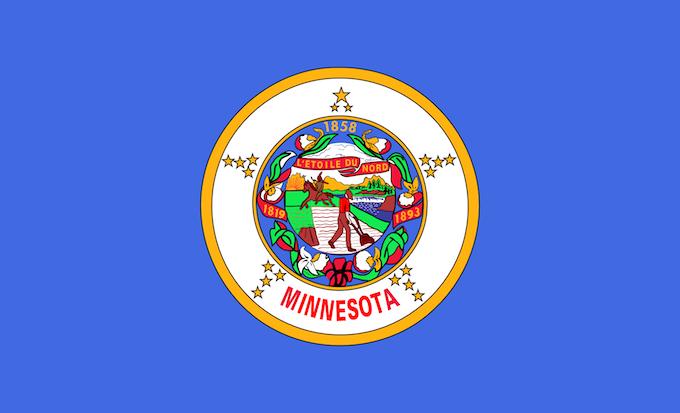 Minnesota Slot Machine Casino Gambling: The Minnesota state flag.