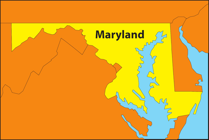Maryland Map [Maryland Slot Machine Casino Gambling 2018]
