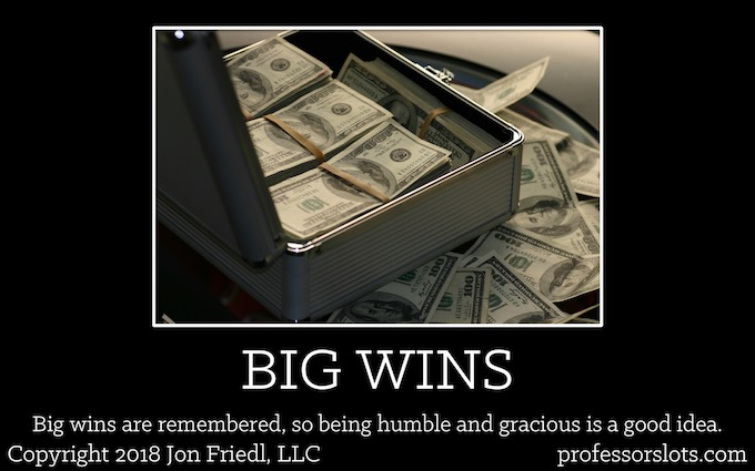 Big wins are remembered, so being humble and gracious is a good idea (Winning a Car Playing Slots).