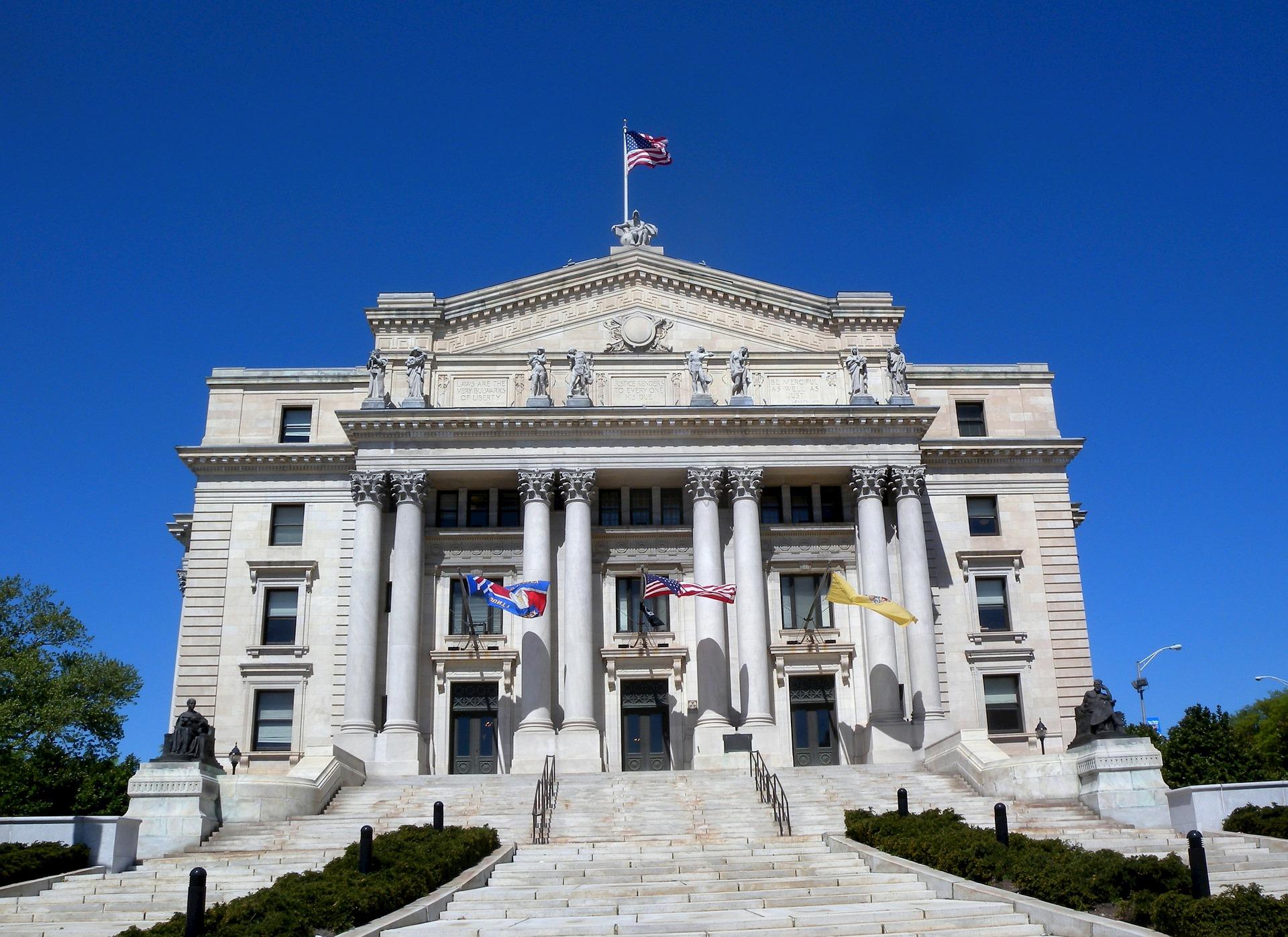 New Jersey Slot Machine Casino Gambling - Essex County Courthouse in Newark, New Jersey.