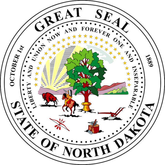 North Dakota Slot Machine Casino Gambling 2018: The Great Seal of the State of North Dakota.