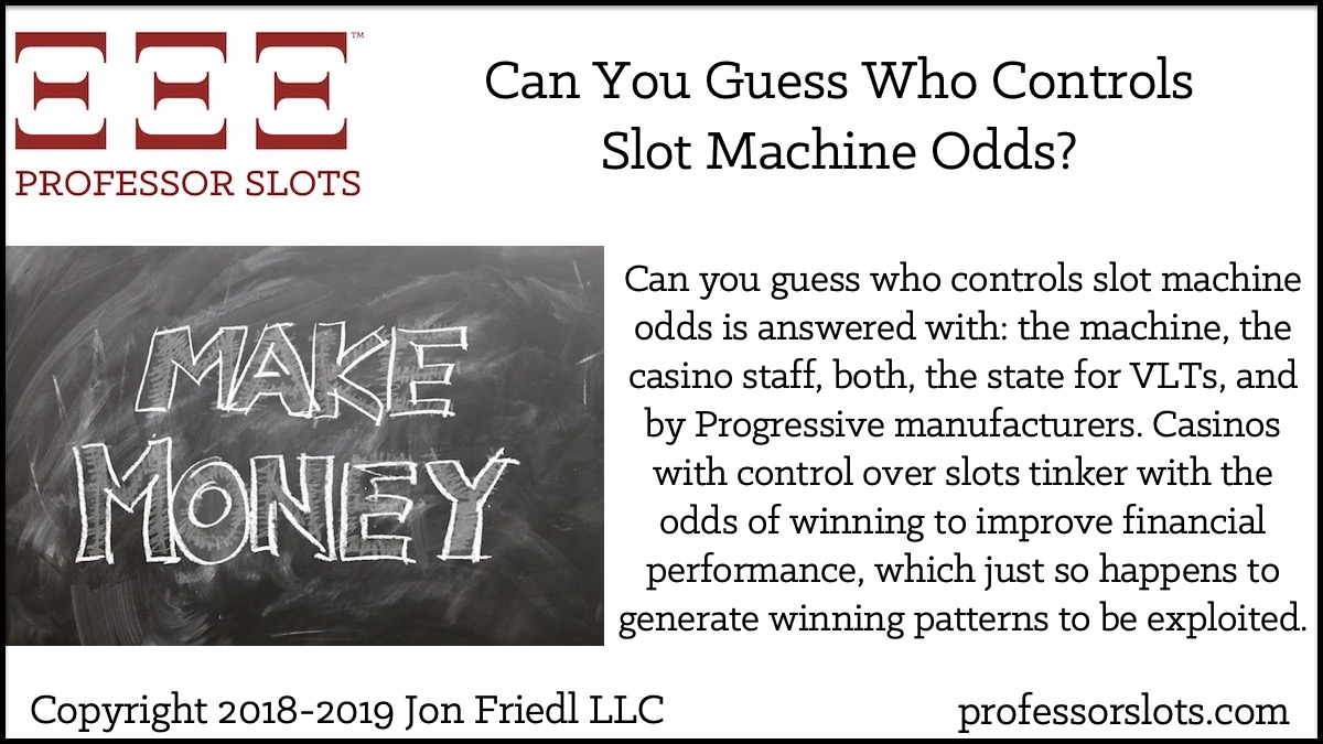 Can You Guess Who Controls Slot Machine Odds? | Professor Slots