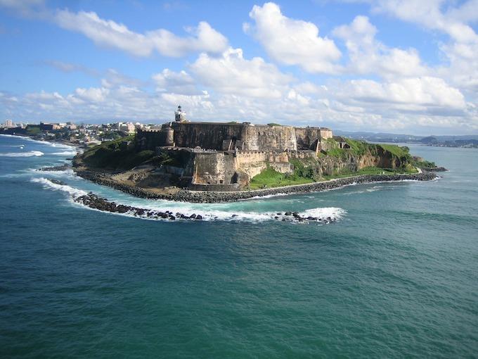 Puerto Rico Slot Machine Casino Gambling 2018: Castillo San Felipe del Morro.