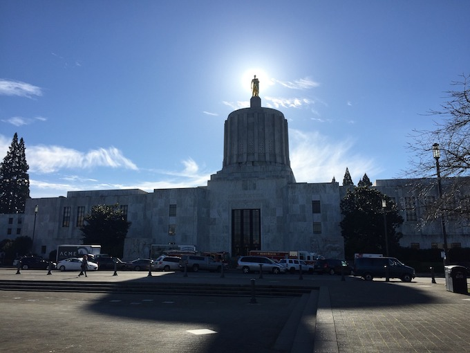 Oregon Slot Machine Casino Gambling 2018: Oregon State Capital Building in Salem.