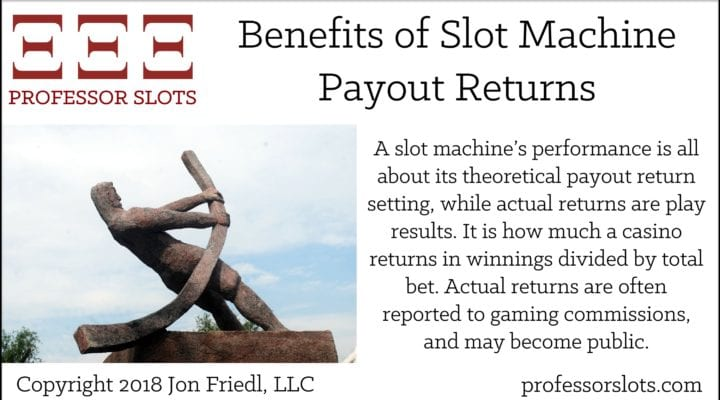 Benefits of Slot Machine Payout Returns