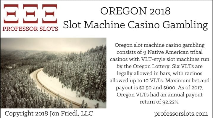 Oregon Slot Machine Casino Gambling 2018
