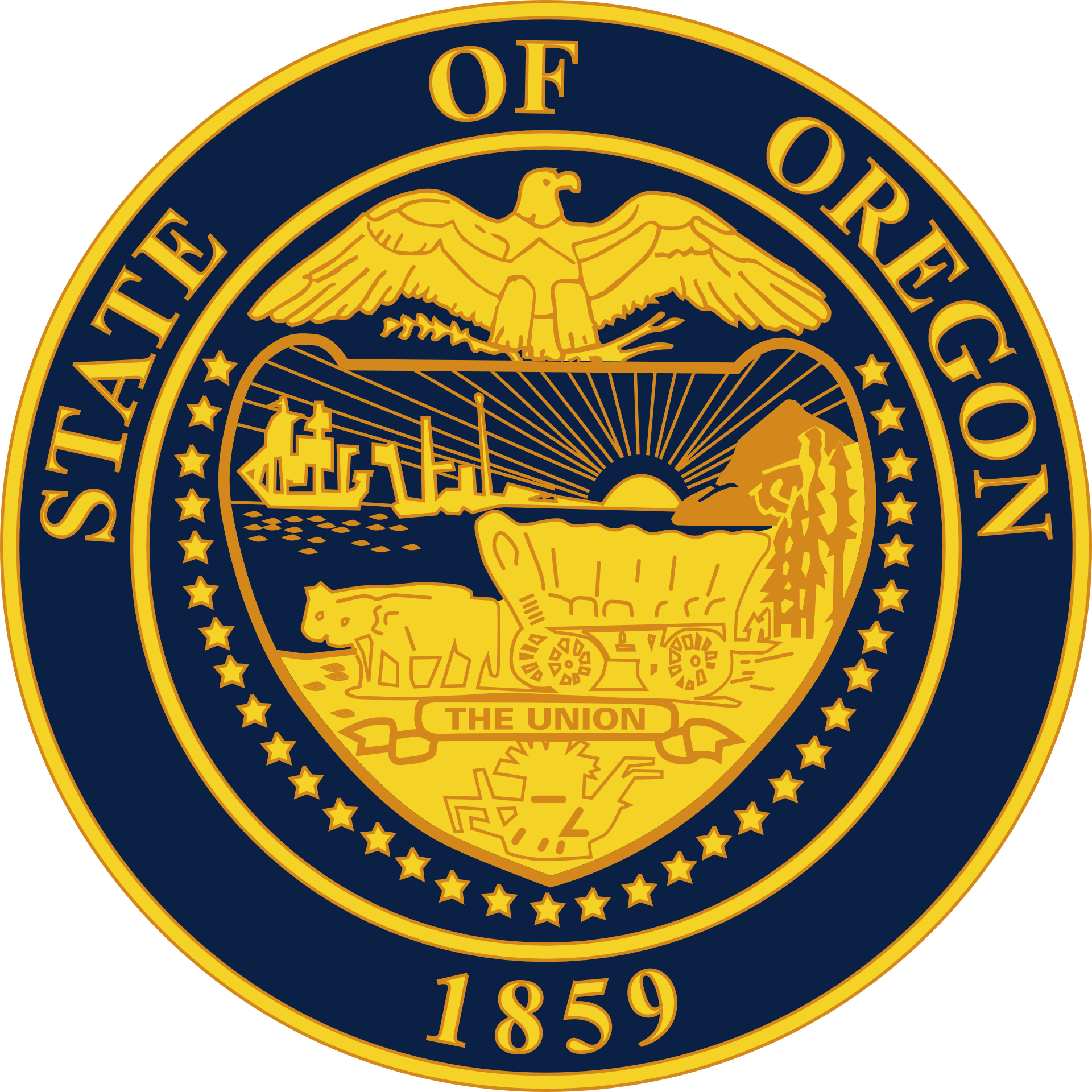 Oregon Slot Machine Casino Gambling 2018: The State Seal of Oregon.