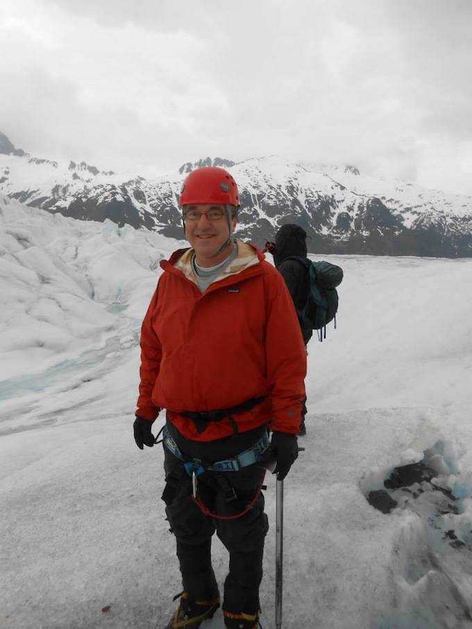 Jon Friedl on Mendenhall Glacier, located 12 miles from Juneau, during 6-Day Alaskan Cruise (Winning Strategy 3: Earning Complimentary Gifts).