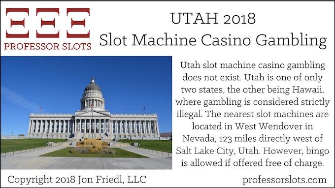 Utah Slot Machine Casino Gambling 2018