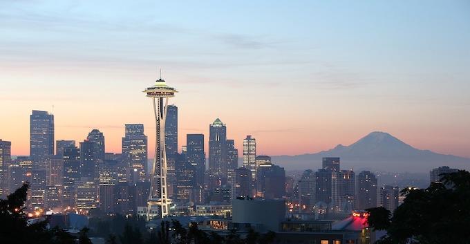 Washington Slot Machine Casino Gambling 2018: The Space Needle in Seattle.