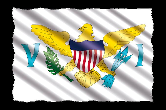 U.S. Virgin Islands Slot Machine Casino Gambling 2018: The territorial flag.