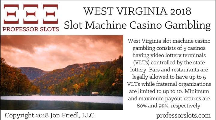 West Virginia Slot Machine Casino Gambling 2018