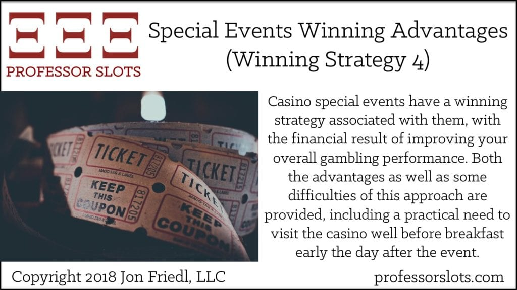 Special Events Winning Advantages (Winning Strategy 4)