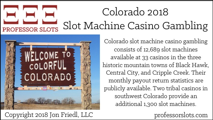 Colorado Slot Machine Casino Gambling 2018