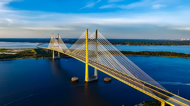 Dames Point Bridge in Jacksonville [Florida Slot Machine Casino Gambling 2018].