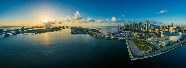 Panoramic View of the City of Miami [Florida Slot Machine Casino Gambling 2018].