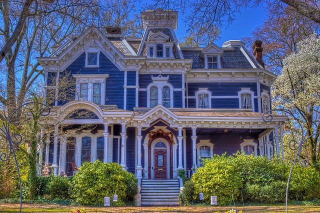 Victorian House with Painted Lady Architecture [Georgia Slot Machine Casino Gambling 2018].