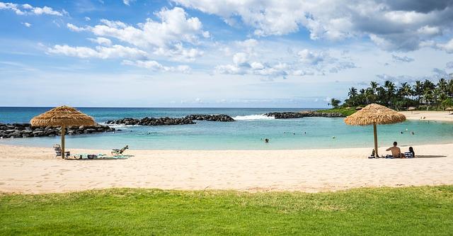 Beach at Ko Olina Resort on O'ahu [Hawaii Slot Machine Casino Gambling 2018]