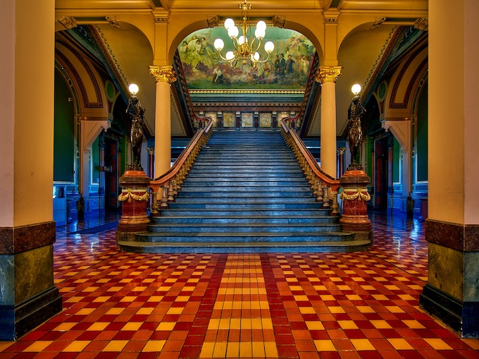 State Capital Building Interior [Iowa Slot Machine Casino Gambling 2018]