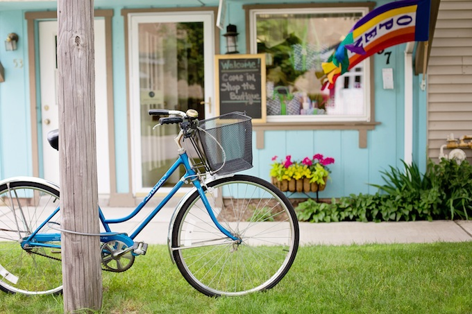 Bicycle at Store on Mackinaw Island [Michigan Slot Machine Casino Gambling 2018]