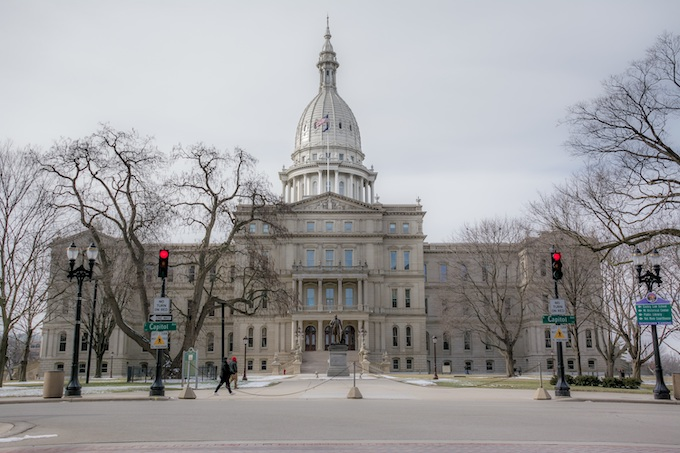 State Capital Building in Lansing [Michigan Slot Machine Casino Gambling 2018]