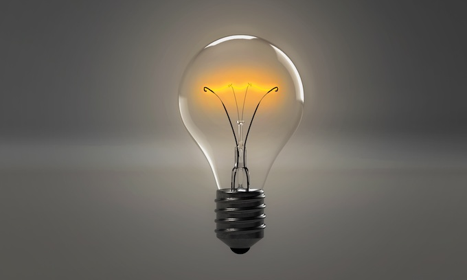 A Lit Lightbulb as a Metaphor for New Ideas [Professor Slots 2019]