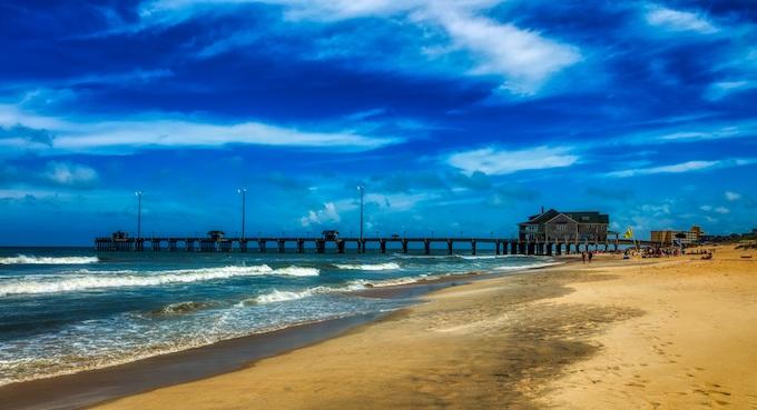 Jennette's Pier and Beach [North Carolina Slot Machine Casino Gambling 2019]