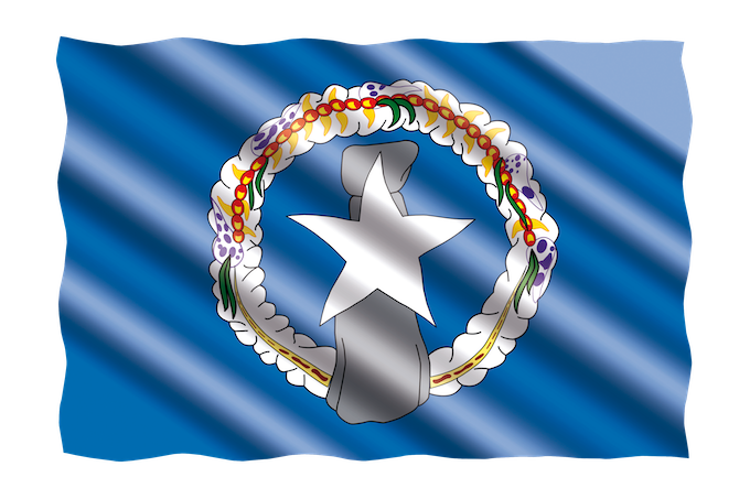 The Flag of CNMI [Northern Mariana Islands Slot Machine Casino Gambling 2019]